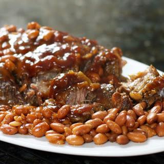 Slow Cooker Pot Roast With Pinto Beans.