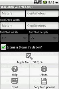Insulation Calc Pro Select- screenshot thumbnail