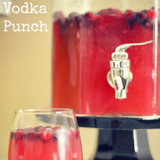 Cranberry Vodka Punch.