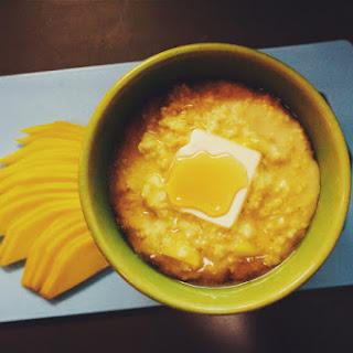 Coconut & Mango Millet Porridge.