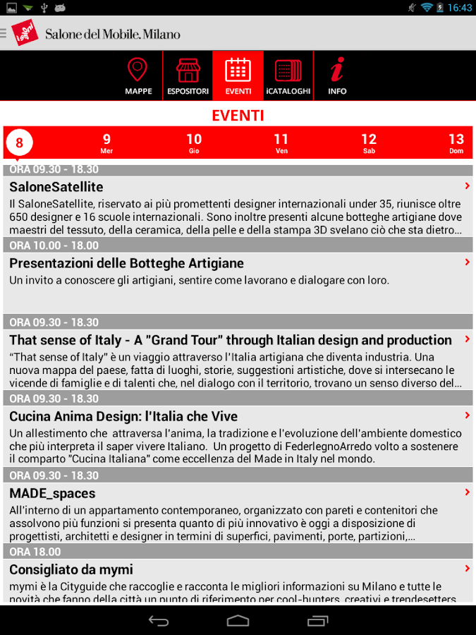 Salone del Mobile Milano 2014 - screenshot