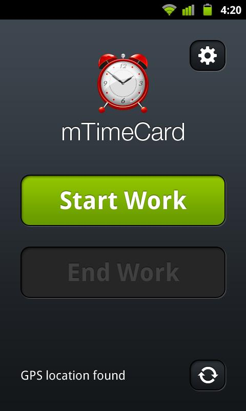 TimeCard for small businesses- screenshot