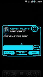 Legacy Neon Go SMS Pro Theme - screenshot thumbnail