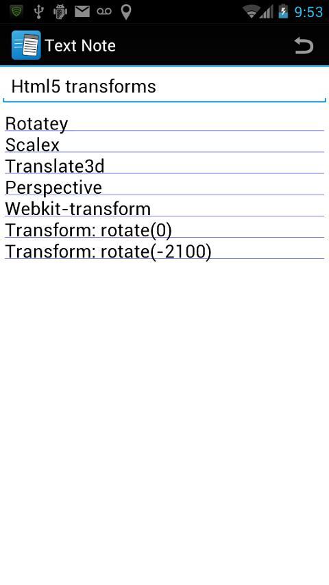Notepad by AgileNote! (Memo)- screenshot