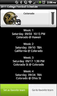 College Football Helmet Sched - screenshot thumbnail