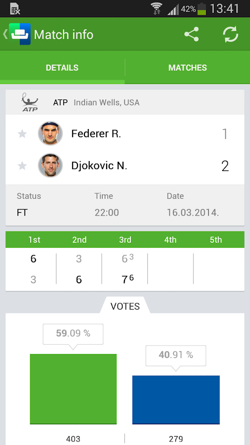 SofaScore LiveScore - screenshot