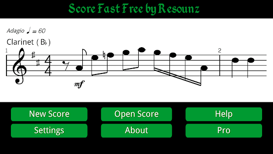 music score writing android