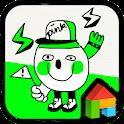 Neon Green Drawing Dodol Theme icon