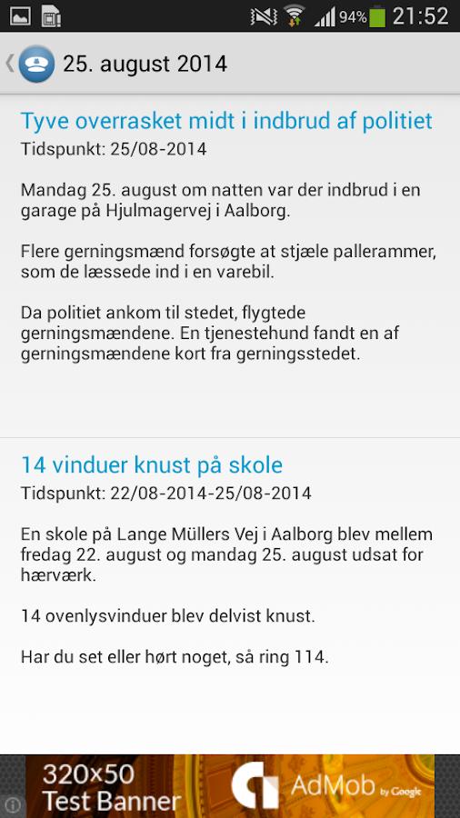 Døgnrapport - Politi & krimi - screenshot