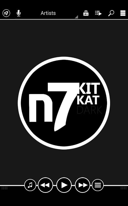 KitKat Dark - N7Player Skin APK 1 4 Download - Free Personalization