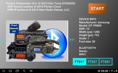 Pocket  HAM bands Transceiver - screenshot thumbnail