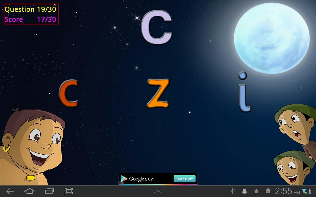 Play with Alphabets and Bheem - screenshot