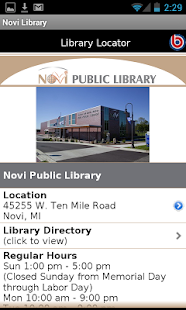 Novi Public Library- screenshot thumbnail