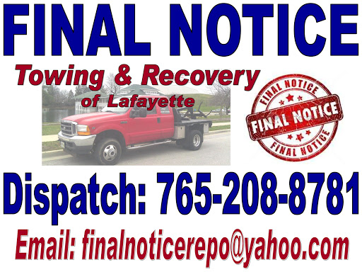 Final Notice Towing