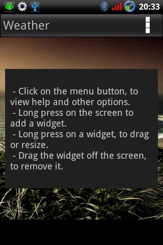 Widget Container- screenshot