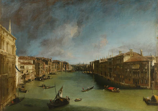 The Grand Canal from Palazzo Balbi towards the Rialto