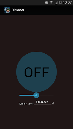 Dimmer : Night reading Screen