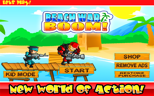 Beach war boom