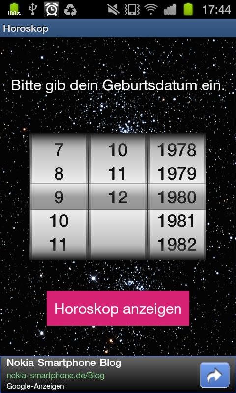 Dein Horoskop- screenshot