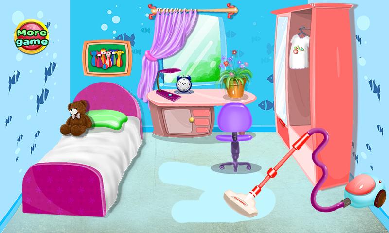 Juegos de limpieza para ni as aplicaciones android en for Cuarto ordenado animado