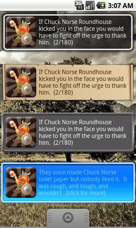 Chuck Norse Facts with Widget- screenshot