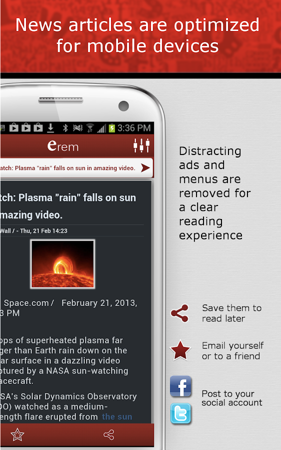 erem – Listen to Your News - screenshot