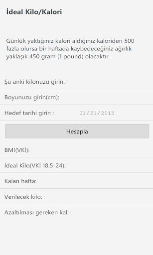 İdeal Kilo VKİ BMI