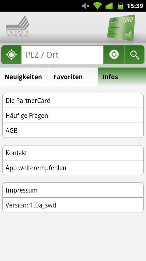 PartnerCard App- screenshot