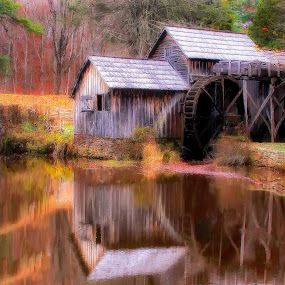 Marby Mill by Robert Gallucci - Buildings & Architecture Public & Historical ( mill, fall, scenic view, historical, landscape )