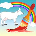 Coloring Book Domestic Animals icon