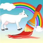 Coloring Book Domestic Animals