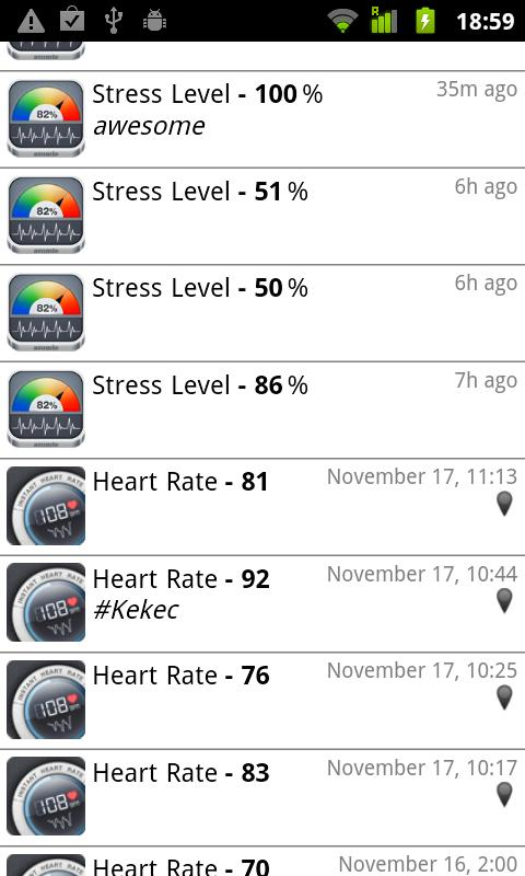 Stress Check by Azumio- screenshot