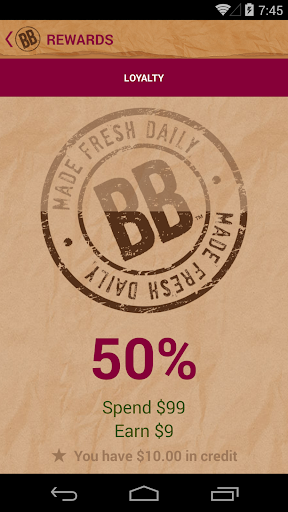 Brown Bag Rewards Program