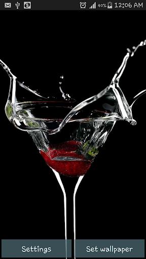 Drink Splash Live Wallpaper