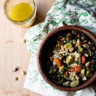Roasted Winter Veggies and Israeli Couscous Recipe