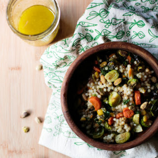 Roasted Winter Veggies and Israeli Couscous.