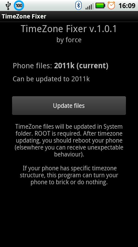 TimeZone Fixer (ROOT) - screenshot
