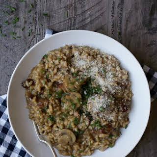 Sausage and Mushroom Risotto.