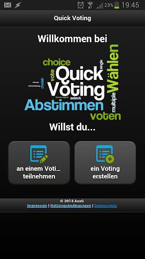Quick Voting Web