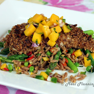 Pecan-Crusted Cod with Mango Salsa