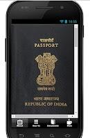 Screenshot of Indian passport application