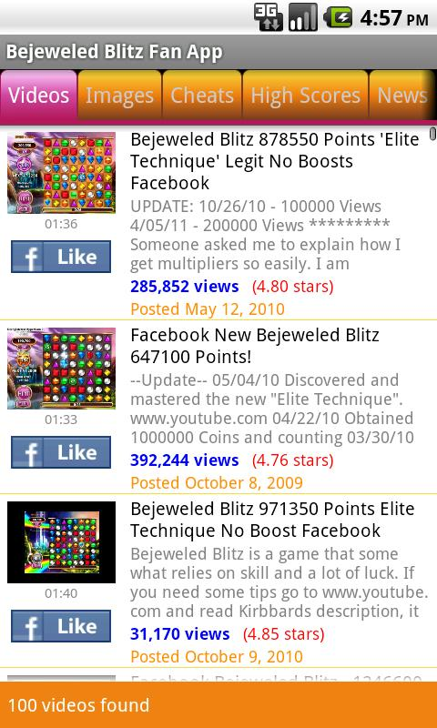Bejeweled Blitz Fan App - screenshot
