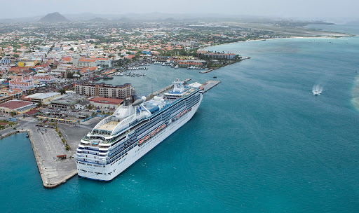 Island-Princess-in-Aruba - The Island Princess in Oranjestad Harbor, Aruba.