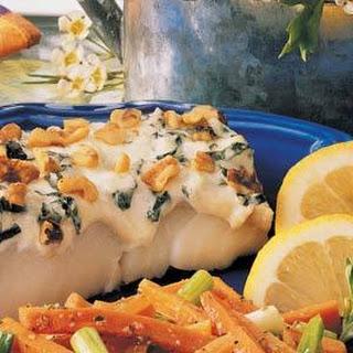 Basil Walnut Fish (Cod or Haddock) Fillets
