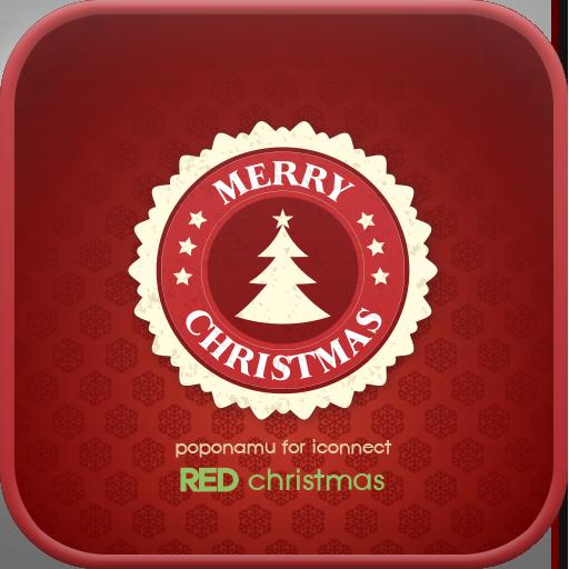 Red Christmas Go Locker theme LOGO-APP點子