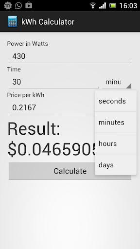 kWh Calculator Demo