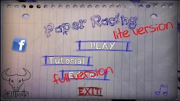 Screenshot of Paper Racing Cars Lite