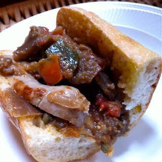 Italian Sausage and Ratatouille Sub.