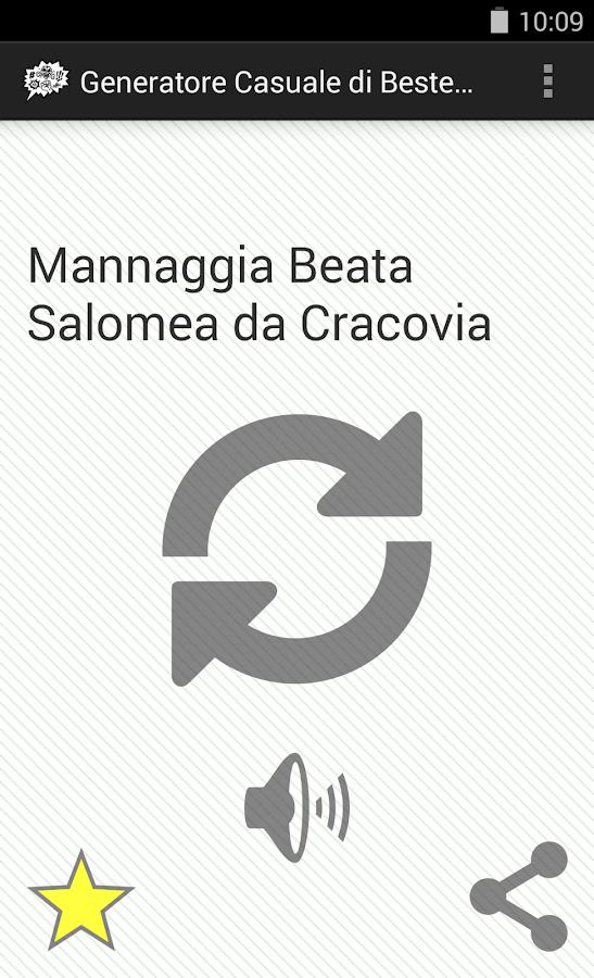 Generatore Casuale Bestemmie - screenshot