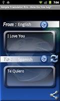 Screenshot of How Do You Say? (Translator)